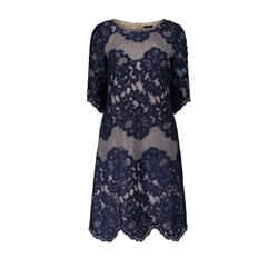 Vera Mont Lace Dress Nude And Navy
