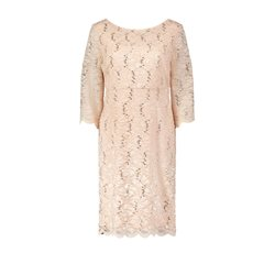 Vera Mont Fitted Lace Dress Peach