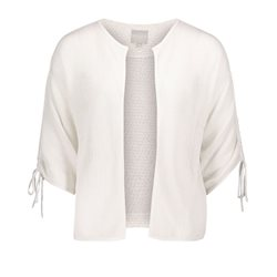 Betty & Co Loose Knit Cardigan White