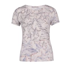 Betty & Co Star Print Top White