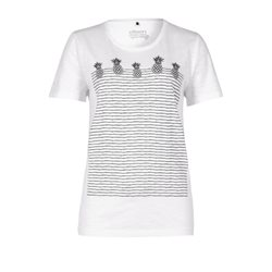 Olsen Pineapple Print T Shirt White
