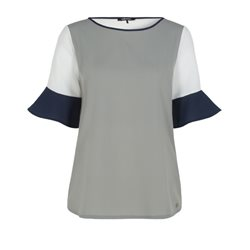 Olsen Loose Fitting Top Sea Grass