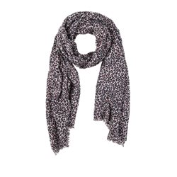 Olsen Animal Print Scarf Off White