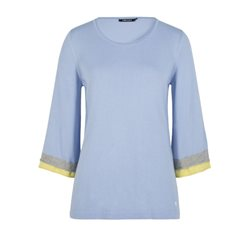Olsen Double Cuff Pullover Blue