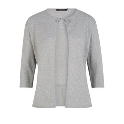 Olsen Knitted Cardigan With Bow Grey