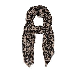 Olsen Abstract Print Scarf Caramel