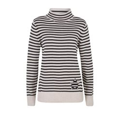 Olsen Striped Pullover Navy And Cream
