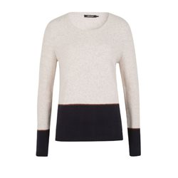 Olsen Block Colour Pullover Cream
