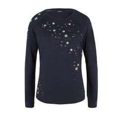 Olsen Long Sleeved Sweatshirt Navy