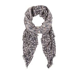 Olsen Woven Printed Scarf Night Blue