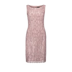 Vera Mont Sequin Overlay Dress Blush