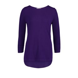 Betty Barclay Ruched Sleeve Jumper Purple