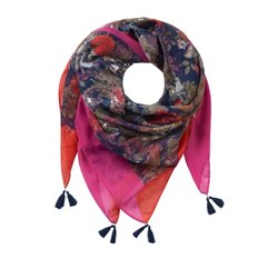 Betty Barclay Floral Print Scarf With Tassels Multi