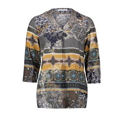 Betty Barclay Printed Blouse Pewter