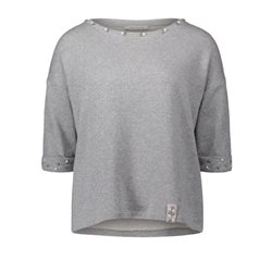 Betty Barclay Metallic Knit Jumper Silver