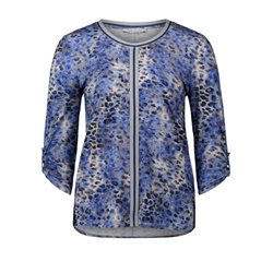 Betty Barclay Leopard Print Top Blue