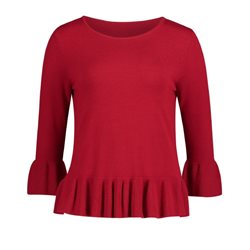 Betty Barclay Frilled Jumper Red