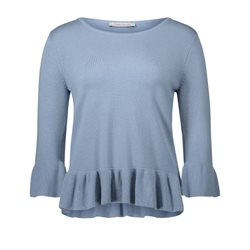 Betty Barclay Frilled Jumper Blue
