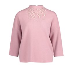 Betty Barclay Pearl Embellished Jumper Pink