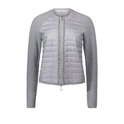 Betty Barclay Knitted Zip Jacket Silver