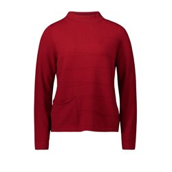 Betty Barclay High Neck Pullover Red