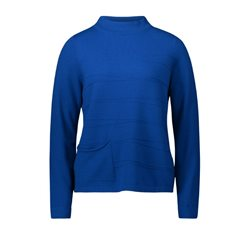Betty Barclay High Neck Pullover Blue