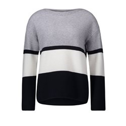 Betty Barclay Striped Jumper Grey