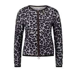 Betty Barclay Animal Print Cardigan Taupe