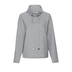 Monari Funnel Neck Pullover Grey