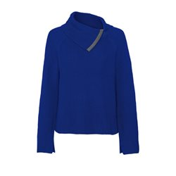 Monari Jumper With A Chain Trimmed Collar Blue