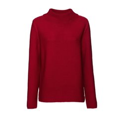 Monari Stand-Up Collar Jumper Red