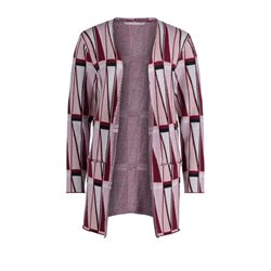 Betty & Co Geometric Cardigan Rose