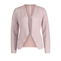 Betty & Co Faux Suede Jacket Pink