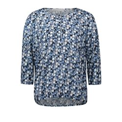 Betty & Co Pebble Print Blouse Blue