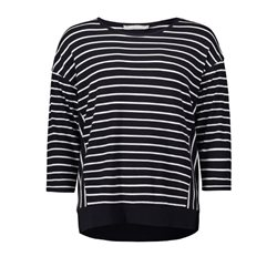 Betty & Co Striped Top Cream And Navy
