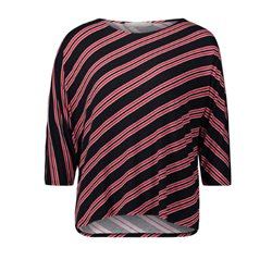 Betty & Co Batwing Striped Top Red