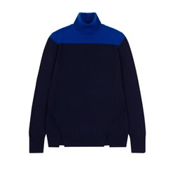 Emreco Fine Knit Pullover Electric And Navy