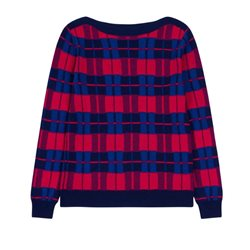 Emreco Checked Knitted Pullover Navy