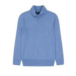 Emreco Soft Roll Neck Pullover Blue