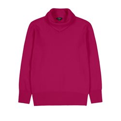 Emreco Knitted Pullover With Fold Crimson