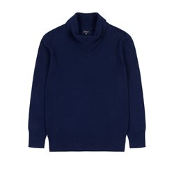 Emreco Knitted Pullover With Fold Navy