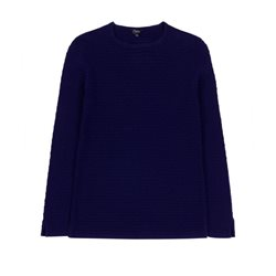 Emreco Waffle Pattern Pullover Navy