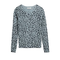 Sandwich Clothing Animal Print Pullover Blue