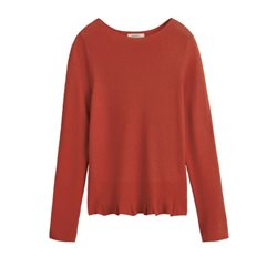 Sandwich Clothing Knitted Pullover Paprika Orange