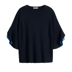 Sandwich Clothing Flowing Sleeves Pullover True Blue