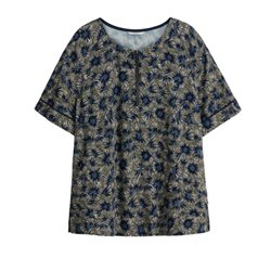 Sandwich Clothing Tiny Flower Print Top Bottle Green