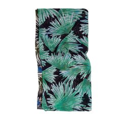 Sandwich Clothing Leaf Print Scarf Fresh Green