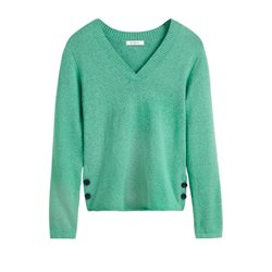 Sandwich Clothing V Neck Pullover Fresh Green