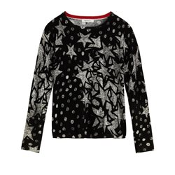 Sandwich Clothing Star Print Pullover Black