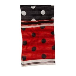 Sandwich Clothing Dotty Print Scarf White